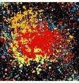 grunge colorful splashing vector image vector image
