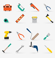 Color tools for repair and home improvement vector image