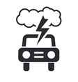 Car storm icon Vector Image