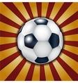 Football ball on metallic background vector image