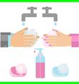 wash hands vector image