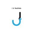 Creative J- letter icon vector image