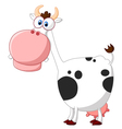 Cute cow posing vector image