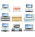 furniture icon set TV stands vector image