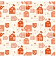 Home sweet home house silhouette and outline vector image