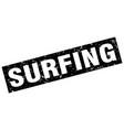 square grunge black surfing stamp vector image