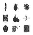 Terrorism flat icons vector image
