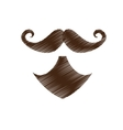 vintage facial hair icon image vector image