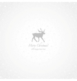 White and gray deer Christmas background vector image