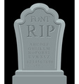 RIP font Ancient carved on tombstone of ABC Tomb vector image
