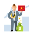 Lucky business Flat style colorful Cartoon vector image