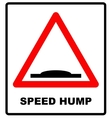 Speed bumps warning of traffic signs vector image