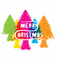 creative merry christmas greeting design vector image
