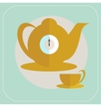 Cup of tea flat icon vector image