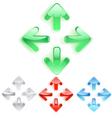 menu arrows vector image