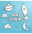 kid drawing set vector image