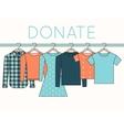 Shirts Sweatshirts and Dress on Hangers vector image vector image