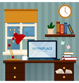 Home Workspace Modern Home Office vector image