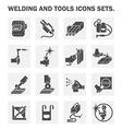 welding icon vector image