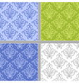 Damask ethnic textile pattern vector image