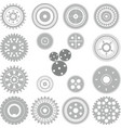 gear and cogwheel collection vector image