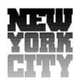 New York t shirt pixel vector image