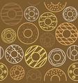 outline doughnut seamless pattern vector image