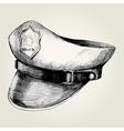 Sketch of a police cap vector image