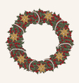 Christmas wreath made from lot of mistletoe vector image