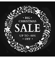 Christmas sale banner Hand drawn chalkboard vector image vector image