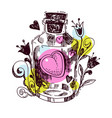 romantic love potion heart of an elixi vector image