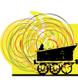 Abstract Train vector image vector image