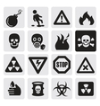danger icons vector image