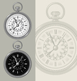 Vintage watch and clock face vector image vector image