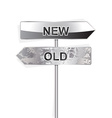 new and old indicator isolated on white vector image vector image