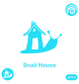Snail with house - home sale concept vector image