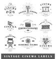 Set of vintage cinema labels vector image vector image