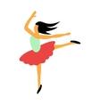 Best dance flat icon vector image