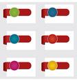 red ribbon tabs vector image vector image