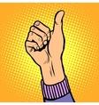 Thumb up gesture like vector image