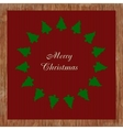 Christmas card with many trees vector image