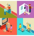 Fast delivery flat isometric concept vector image