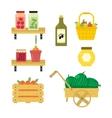 Fresh vegetables from the garden vector image