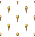 ice cream in waffle cone icon in cartoon style vector image