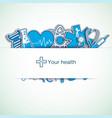 light medical background vector image