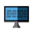monitor computer binary interface device vector image