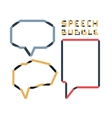 Origami speech bubble set vector image