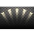 Spot lights on transparent background vector image
