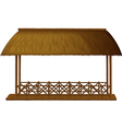 Wooden shade vector image
