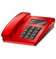 A red telephone vector image vector image